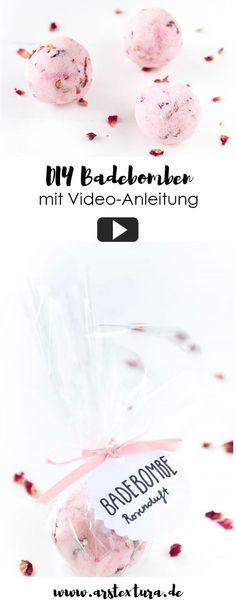 DIY Badebomben selber machen - mit Videoanleitung | DIY Geschenk zu Weihnachten oder Muttertag | #diygeschenk #weihnachten #kreatividee