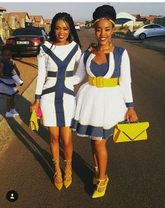 Lady on the right…smashin'! by laviye - 2019 Dresses, Skirt, Shirts & African Prom Dresses, African Dresses For Women, African Attire, African Wear, African Fashion Dresses, African Women, African Style, Xhosa Attire, Ghanaian Fashion