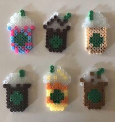 Tiny Starbucks Cups Keychains Perler Beads