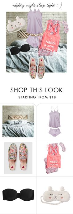 """""""29"""" by maha-asa ❤ liked on Polyvore featuring Olivia von Halle, Gucci, Victoria's Secret, Calvin Klein Underwear and P.J. Salvage"""