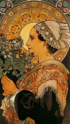 Thistle From The Sands, 1902, by Alphonse Mucha