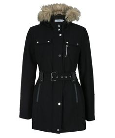 28ca2f18346 A cozy wool blend coat combining a feminine belted silhouette and military  inspired hardware details. We especially love the faux fur trimmed hood for  added ...