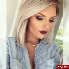 dark smokey eye with dark lip color