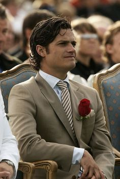 Prince Carl Philip (Carl Philip Edmund Bertil) (13 May 1979-living2015) Duke of Värmland, Sweden at a 2004 birthday event for his sister Crown Princess Victoria's (Victoria Ingrid Alice Désirée) (14 Jul 1977-living2015) Duchess of Västergötland, Sweden by unknown photographer in Popsugar Celebrity Magazine. Victoria is the heir apparent of King Carl XVI Gustaf (1946-living2015) Sweden.