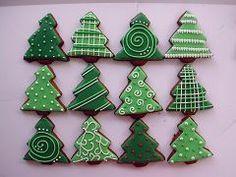 Wonderful Christmas Cookies – Cooker here Christmas Tree Cookies, Iced Cookies, Cute Cookies, Christmas Sweets, Holiday Cookies, Christmas Candy, Cupcake Cookies, Christmas Baking, Gingerbread Cookies