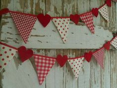 Red gingham and dots garland