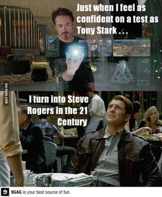 Exam taking a la Tony Stark and Steve Rogers