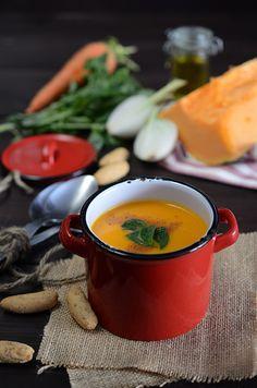 ¡Qué cosa tan dulce!: Crema de calabaza y zanahoria con leche de coco Pumpkin Carrot Soup, Whole 30 Soup, Soup Recipes, Vegan Recipes, Recipe Sites, Sweet And Salty, Food Preparation, Good Food, Fun Food