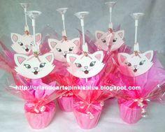 Pinkie Blue Artigos para festa: Centro de mesa  da gata Marie