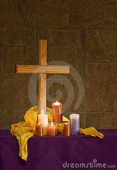 Cross with Candles