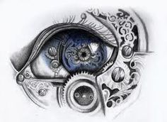 Mechanical eye art print by LaurenMcEwen (steampunk) Steampunk Drawing, Steampunk Kunst, Steampunk Witch, Steampunk Artwork, Steampunk Diy, Drawing Sketches, Art Drawings, Realistic Eye Drawing, Drawing Eyes