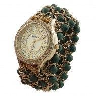 Relógios; Relogio Feminino; Relógios Feminino; Acessorio; mulher; fashion; Moda; presente mulher; verde; dourado; relógio dourado