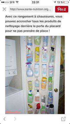 Astuce rangement produits ménagers