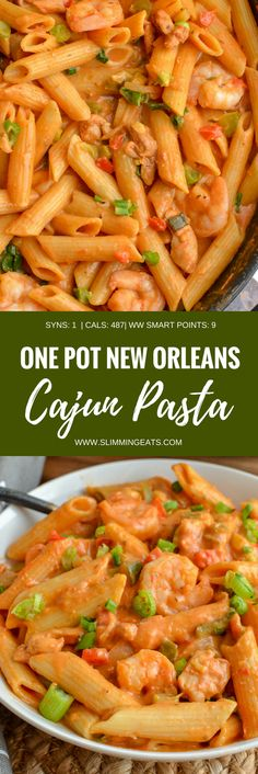Dig into a bowl of this delicious spicy One Pot New Orleans Cajun Pasta - the only regret will be not having enough for seconds. Slimming World and Weight Watchers friendly. One Pot Cajun Pasta, Spicy Chicken Pasta, Pot Pasta, Chicken Pasta Recipes, Pasta Dishes, Pasta Bake, Recipe Pasta, Cajun Pasta Sauce, Cajun Dishes