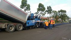 MOBA - Big Sonic Ski for Road Construction in Australia.
