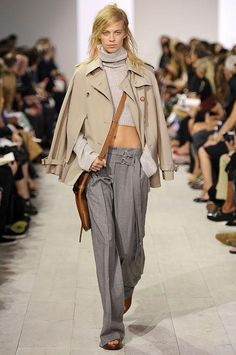 Spring 2016 fashion trends to start shopping now: low-slung pants like this slouchy pair seen on the Michael Kors runway.