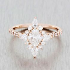 Pretty engagement ring www.ScarlettAvery.com