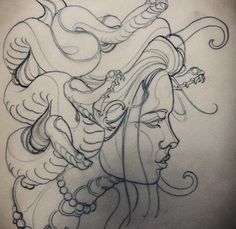 traditionelles Medusa-Tattoo Source by kaydeezzay Medusa Kunst, Medusa Art, Medusa Drawing, Medusa Painting, Tattoo Sketches, Tattoo Drawings, Art Drawings, Sketch Drawing, Snake Sketch