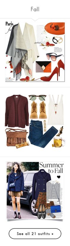 """""""Fall"""" by maddie0004 ❤ liked on Polyvore featuring Pierre Hardy, outfit, fallfashion, falltrend, fallgetaway, Timberland, Vila Milano, The Row, Rowallan and Ray-Ban"""