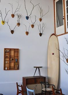 Still loving these eco-friendly antler-esque plaques made from found branches by Luke Bartels: http://www.lukebartels.com/
