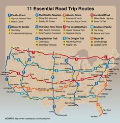 Great Road Trip Routes