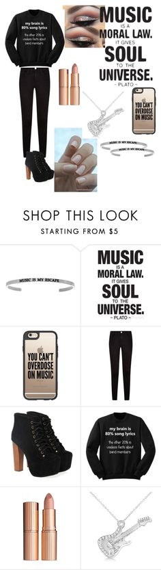 """""""Love music"""" by ana-margarida165 ❤ liked on Polyvore featuring Casetify, Jeffrey Campbell, Charlotte Tilbury and Allurez"""