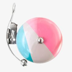 Pastel pink and blue bike bell