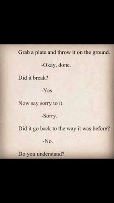 do you understand?