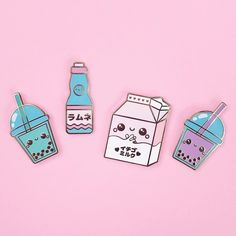Repost @candyxcorpse  My kawaii drink series came in and I can't get over how cute they are in person!! They are now live in my shop!  candycorpse.net    (Posted by https://bbllowwnn.com/) Tap the photo for purchase info.  Follow @bbllowwnn on Instagram for the best pins & patches! [Image Description: Enamel pin and embroidered patch for sale on background]