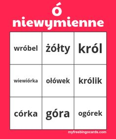 Free Printable and Virtual Bingo Cards Bingo Card Generator, Free Bingo Cards, Polish Language, Play Online, Teaching Materials, Free Printables, Education, School, How To Make