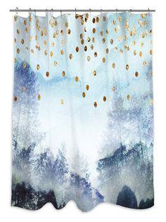 Oliver Gal Summer Mist Collage Shower Curtain, Multi at MYHABIT
