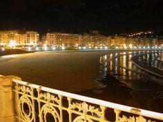 San Sebastian, Spain.  La Concha Beach.