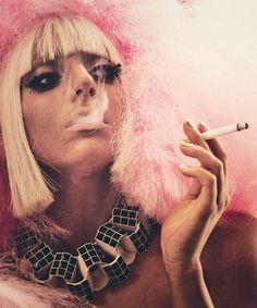 Weird Fashion, Fashion Art, Lady Gaga Photoshoot, Joanne Lady Gaga, Women Smoking Cigarettes, Mario Testino, Girl Smoking, Music Icon, White Women