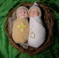 Handmade dolls by Sarah Pogue.