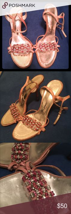 Giuseppe Zanotti heels Beautiful stone Giuseppe Zanotti heels. Show minor wear on heel. Sz 8 Giuseppe Zanotti Shoes Heels