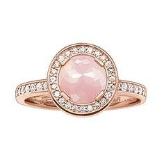 Ring in Rosegold von Thomas Sabo ab 179,00€ ♥ Hier kaufen: http://stylefru.it/s308689 #rosenquarz #zirkonia