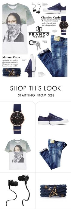 """""""FrancoFlorenzi.com"""" by yexyka ❤ liked on Polyvore featuring Converse, Neil Barrett, Monster, men's fashion and menswear"""