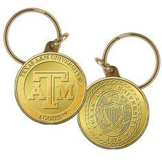 Texas A&M University Bronze Coin Keychain