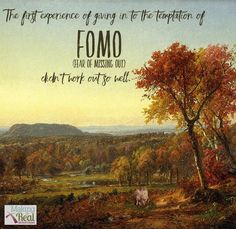 New blog post: Is the cost of surrendering to FOMO worth it? Genesis 3 teaches us a lot about the dangers of #FOMO http://www.lauranaiser.com/say-no-to-fomo/