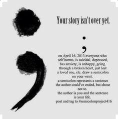 Suicided awareness tattoo. Depression sucks