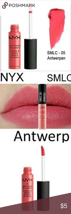 NWT matt lip cream by NYX one sealed tube Authentic and Sealed !  NYX soft matt lip cream, one 8ml / 0.27fl.oz tube  Color: Antwerp SMLC 05 NYX Makeup Lipstick