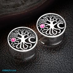 The Tree of Life Sun & Moon Opalescent Ear Gauge Plug