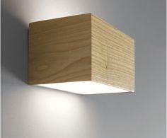 LEDlux Nord LED Up/Down Cube Wall Bracket in Teak | Bathroom | Room Type | Beacon Lighting $189