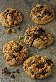 Pistachio Chocolate Chunk Cookies