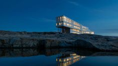 Stunning boutique hotel on remote rocky island where cod fishing industry collapsed is Gywneth Paltrow favourite Northern Lights Trips, See The Northern Lights, Abu Dhabi, Beijing, Empire State, Fogo Island Newfoundland, Newfoundland Canada, Fogo Island Inn, Guggenheim Bilbao