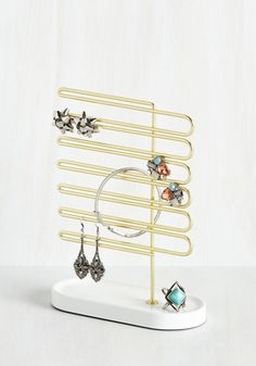 La Vie en Rows Jewelry Stand - Good, Gals, Gifts2015, Gold, White, Wedding, SF…