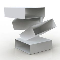 Front | Balancing Boxes Side Table