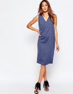 Изображение 1 из Платье без рукавов с запахом спереди ASOS