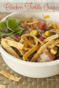 Chicken Tortilla Soup Recipe for dinner on those cool fall and cold winter days KristenDuke.com