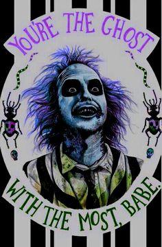 Beetlejuice: You're the ghost with the most, babe Arte Horror, Horror Art, Horror Movies, Horror Movie Tattoos, Horror Room, Tim Burton Kunst, Tim Burton Art, Burton Burton, Princesas Disney Zombie